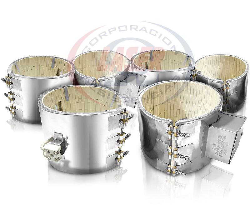 Resistencias Tipo Banda Cerámica con ajuste tipo pasador - Incluye caja de protección de Terminales